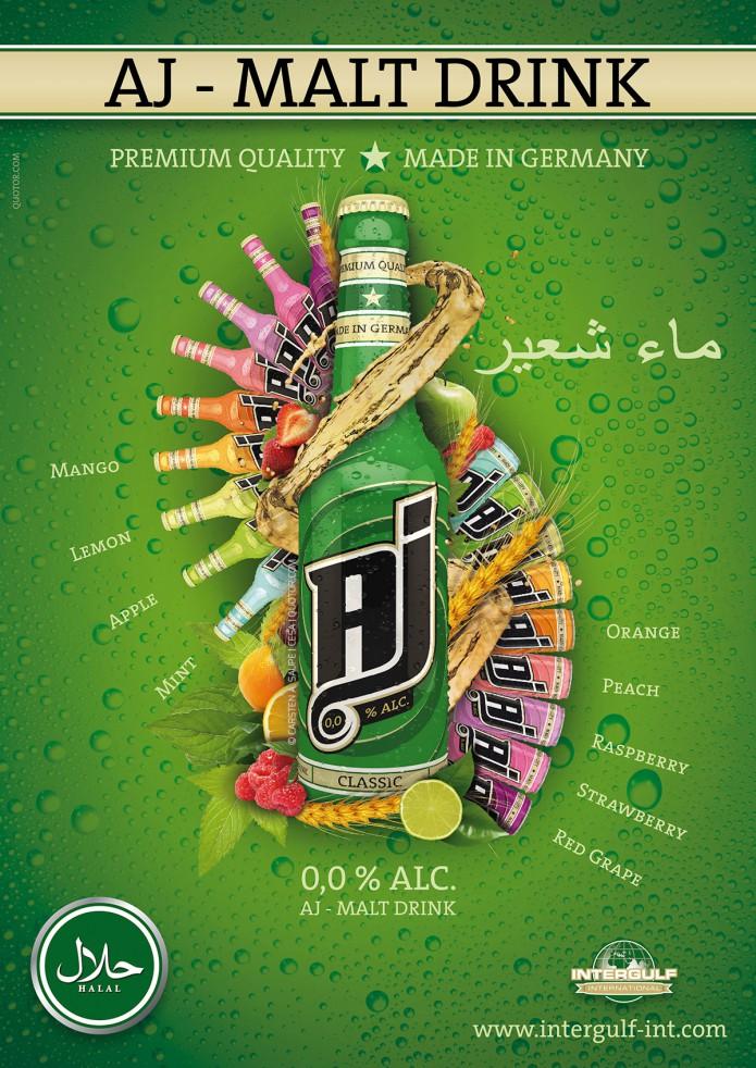 Anzeigengestaltung und Plakate AJ-Malt-Drink-Anzeige-Quotor-Design-Carsten-A-Saupe-1200
