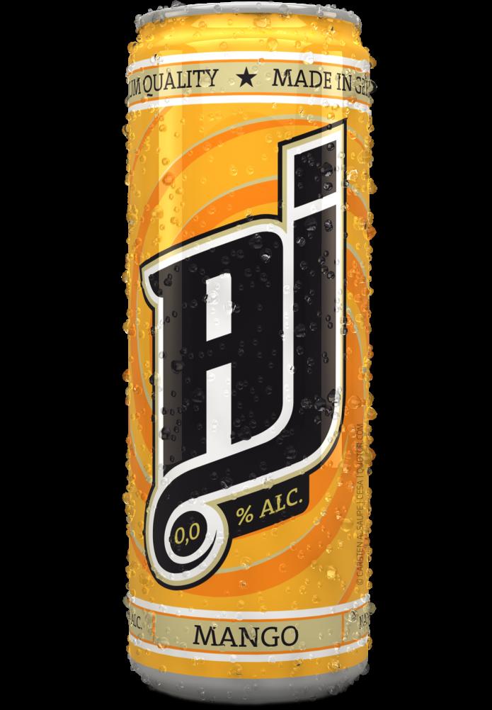 Label Design AJ-Malt-Drink-Dosen-Mango-v2-Quotor-Design-Carsten-A-Saupe