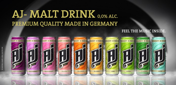 Label Design AJ-Malt-Drink-Dosen-Visual-©-Carsten-A-Saupe-CeSa-Quotor-Design