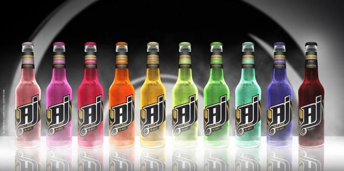 Label Design AJ-Malt-Drink-Flaschen-Visual-©-Carsten-A-Saupe-CeSa-Quotor-Design