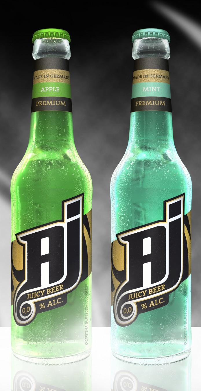 Label Design AJ-Malt-Drink-Flaschen-v1-©-Carsten-A-Saupe-CeSa-Quotor-Design-Berlin