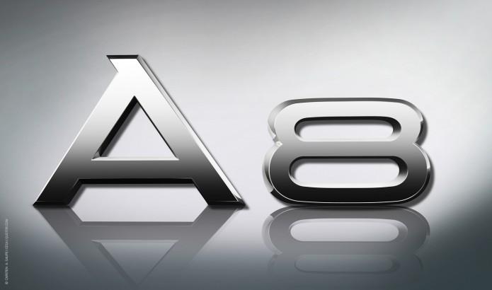 Audi A8 Logo Design Konstruktion der Audi Ringe und Typen Logos Audi-A8-Logo-©-Carsten-A-Saupe-CeSa-Quotor-Design
