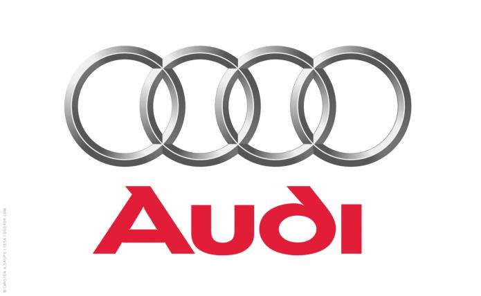 Konstruktion der Audi Ringe Audi-Logo-Ringe © Carsten-A. Saupe CeSa Quotor Design