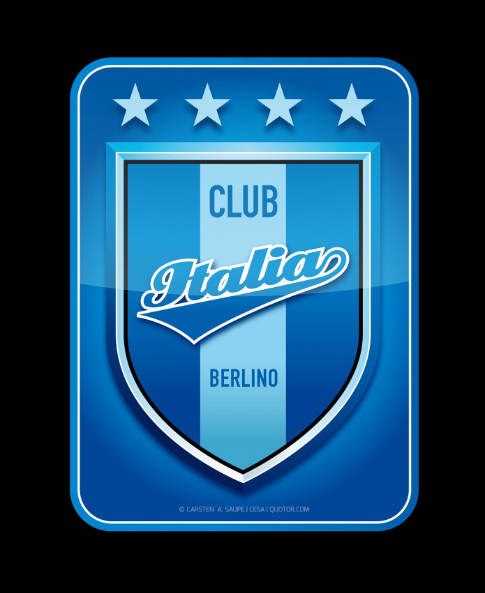 Logooooooool Design Club-Italia-Berlino-Logo-Blau-Quotor-Design-Carsten-A-Saupe