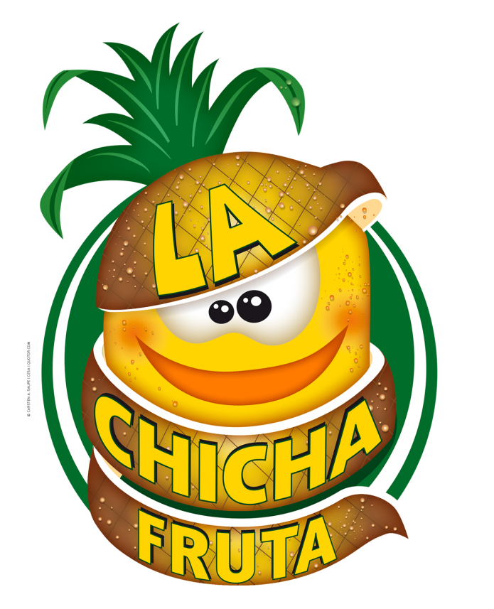 Fruchtige Logos La-Chicha-Fruta-Logo-Ananas-©-Carsten-A-Saupe-CeSa-Quotor-Design