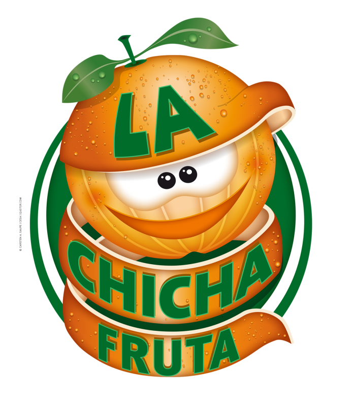 Fruchtige Logos La-Chicha-Fruta-Logo-Orange-©-Carsten-A-Saupe-CeSa-Quotor-Design