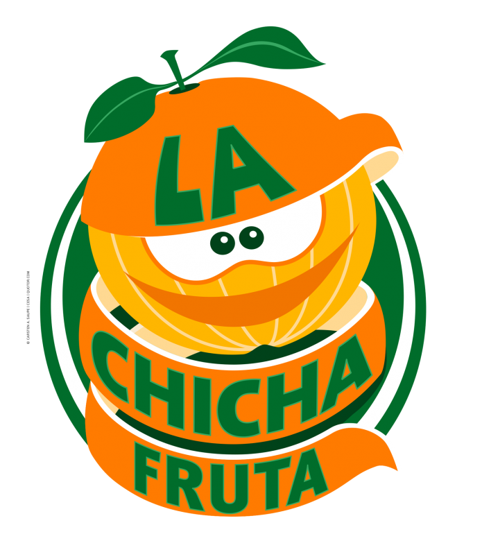 Fruchtige Logos La-Chicha-Fruta-Logo-Orange-Vollton-Version-©-Carsten-A-Saupe-CeSa-Quotor-Design