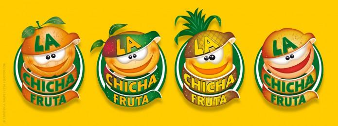Fruchtige Logos Logo-La-Chicha-Fruta-alle-Logos-©-Carsten-A-Saupe-CeSa-Quotor-Design