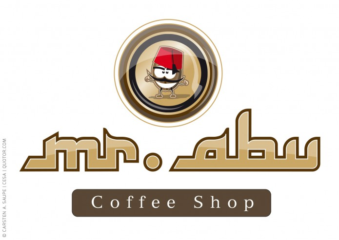 Logo Designs Logo Mister Abu coffee-shop-©-Carsten-A-Saupe-CeSa-Quotor-Design