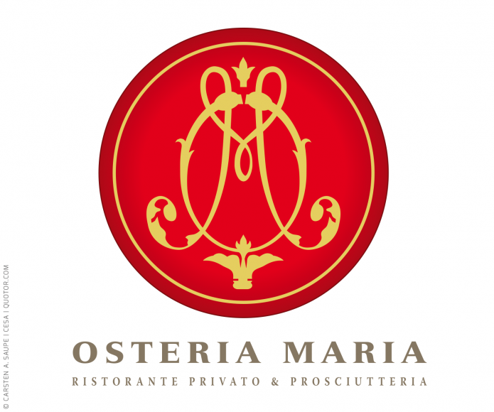 Logo Design Auswahl Osteria-Maria-Logo-©-Carsten-A-Saupe-CeSa-Quotor-Design