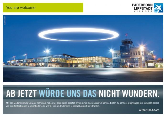Image Anzeigenkampagne Queen Mary und co Paderborn-Lippstadt-Airport-Anzeigen-Motiv-Heiligenschein-©-Carsten-A-Saupe-CeSa-Quotor-Design