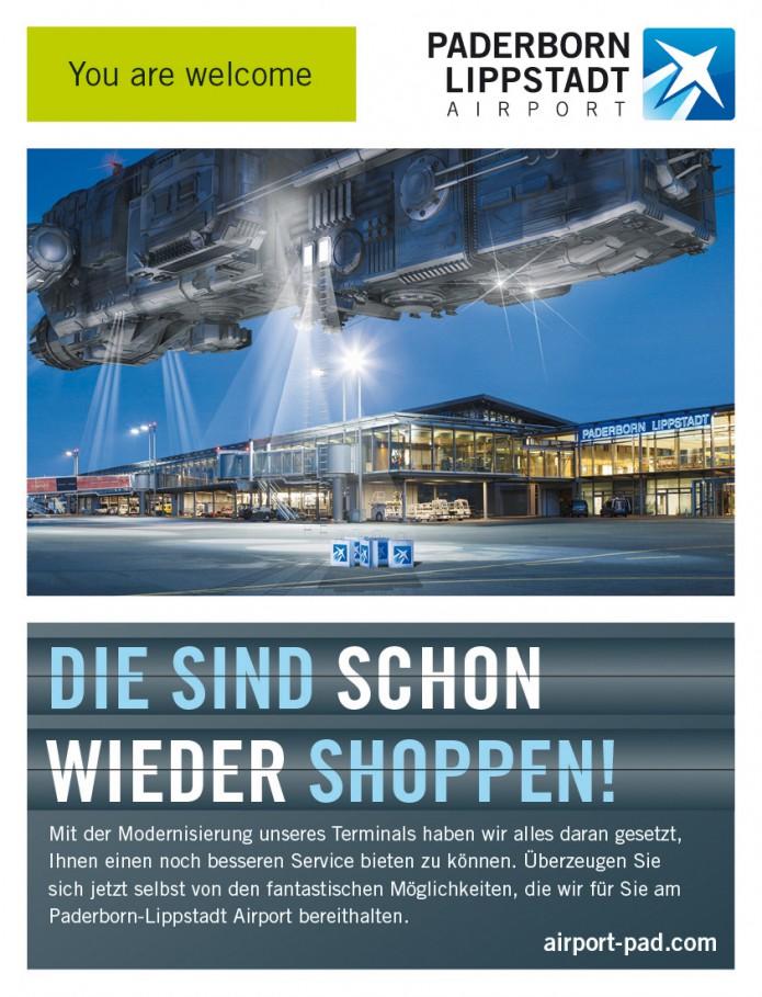 Image Anzeigenkampagne Queen Mary und co Paderborn-Lippstadt-Airport-Anzeigen-Motiv-Shoppen-©-Carsten-A-Saupe-CeSa-Quotor-Design