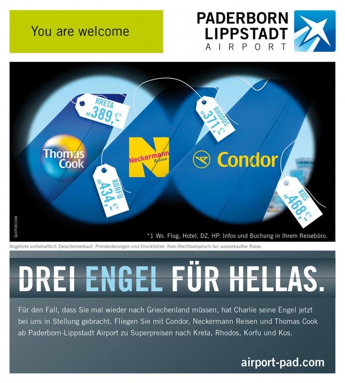 Image Anzeigenkampagne Queen Mary und co Paderborn-Lippstadt-Airport-Anzeigen-Motiv-drei-Engel-Hellas-©-Carsten-A-Saupe-CeSa-Quotor-Design