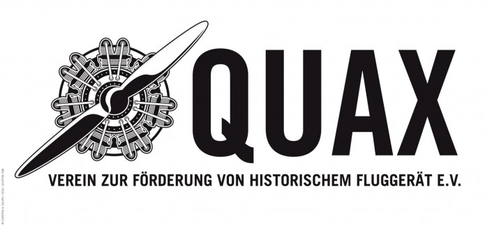 Vintage Design der Quax Flieger Quax-Flieger-Verein-Logo-SW-©-Carsten-A-Saupe-Quotor-Design