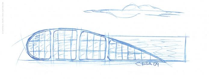 Quotor Design entwirft Quax Hangar Design Quax-Hangar-Entwurf-Skizze-©-Carsten-A-Saupe-CeSa-Quotor-Design