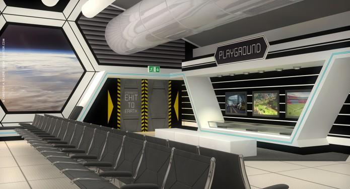 Raumkonzept Star Wars Odyssey 2001 Quotor Design TXL-Terminal-Star-Wars-Odyssey-2001-Design-Entwurf-Innen-Bild-05-©-Carsten-A-Saupe-CeSa-Quotor-Design