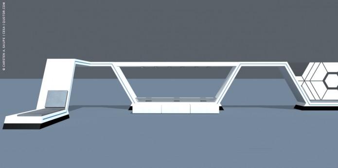 Raumkonzept Star Wars Odyssey 2001 Quotor Design TXL-Terminal-Star-Wars-Odyssey-2001-Design-Entwurf-Innen-Einrichtung-Bild-03-©-Carsten-A-Saupe-CeSa-Quotor-Design