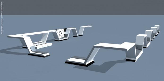 Raumkonzept tar Wars Odyssey 2001 Quotor Design TXL-Terminal-Star-Wars-Odyssey-2001-Design-Entwurf-Innen-Einrichtung-Bild-04-©-Carsten-A-Saupe-CeSa-Quotor-Design