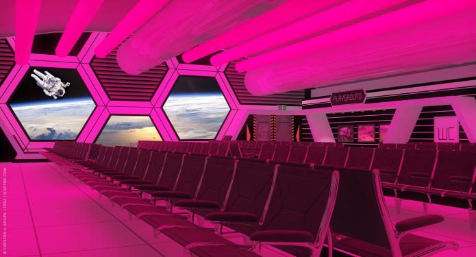 Raumkonzept Star Wars Odyssey 2001 Quotor DesignTXL-Terminal-Star-Wars-Odyssey-2001-Design-Entwurf-Innen-Farblicht-Bild-09-©-Carsten-A-Saupe-CeSa-Quotor-Design