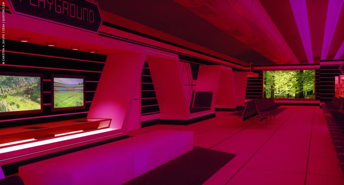 Raumkonzept Star Wars Odyssey 2001 TXL-Terminal-Star-Wars-Odyssey-2001-Design-Entwurf-Innen-Farblicht-Bild-14-©-Carsten-A-Saupe-CeSa-Quotor-Design