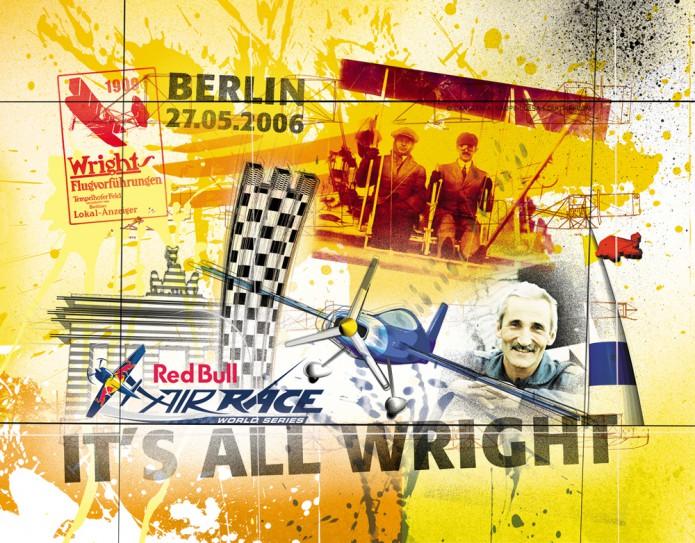 Grossartiges Gastgeschenk RedBull Air Race Kunst_Grafik-Artwork_Red_Bull_Air_Race_Bros_Wright_Pilot_Bessenyei-©_Artwork_Carsten_A_Saupe-CeSa-Creative_Director_in_Berlin-Quotor_Design