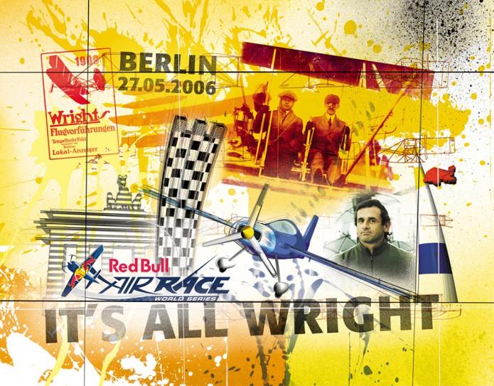 Grossartiges Gastgeschenk RedBull Air Race Kunst_Grafik-Artwork_Red_Bull_Air_Race_Bros_Wright_Pilot_Ivanoff-©_Artwork_Carsten_A_Saupe-CeSa-Creative_Directore_in_Berlin-Quotor_Design