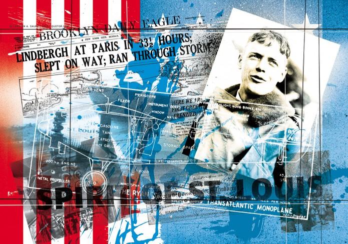 HistoryofAviation Artworsk Kunst_Grafik-Aviation_Artwork_Luftfahrt-Charles_Lindbergh-©-Carsten-A-Saupe-CeSa-Quotor-Design