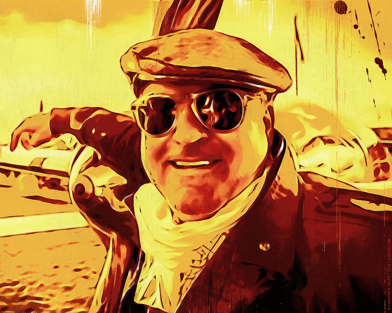 Portrait Kunstgrafik Portrait Artwork Kunst_Grafik-Aviation_Artwork_Portrait_Pilot_Art_Style_01-©_Artwork_Carsten_A_Saupe-CeSa-Creativ_Director_in_Berlin-Quotor_Design