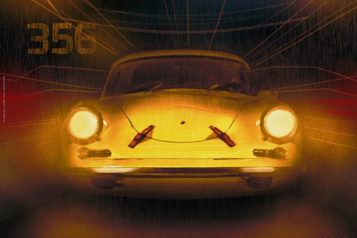 Porsche Kunstgrafiken Kunst_Grafik-Porsche_356_Artwork-©-Carsten-A-Saupe-CeSa-Quotor-Design