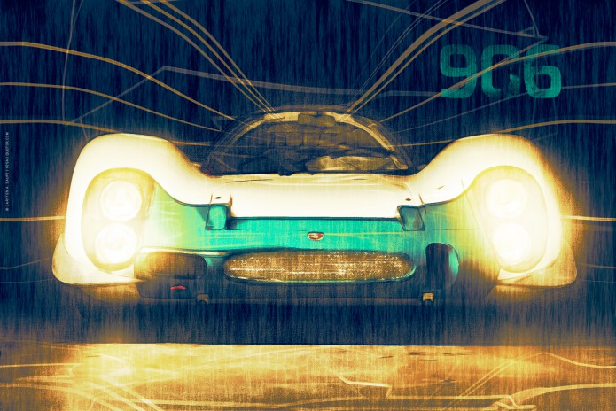 Porsche Kunstgrafiken Kunst_Grafik-Porsche_906_Artwork-©-Carsten-A-Saupe-CeSa-Quotor-Design