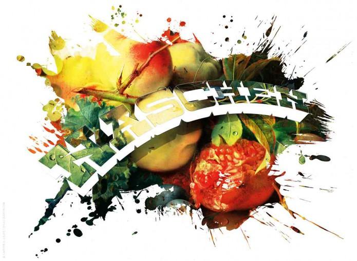 Stillleben Typo Kunstgrafiken Kunst_Grafik-Typo_Stillleben_01-naschen-©-Carsten-A-Saupe-CeSa-Quotor-Design