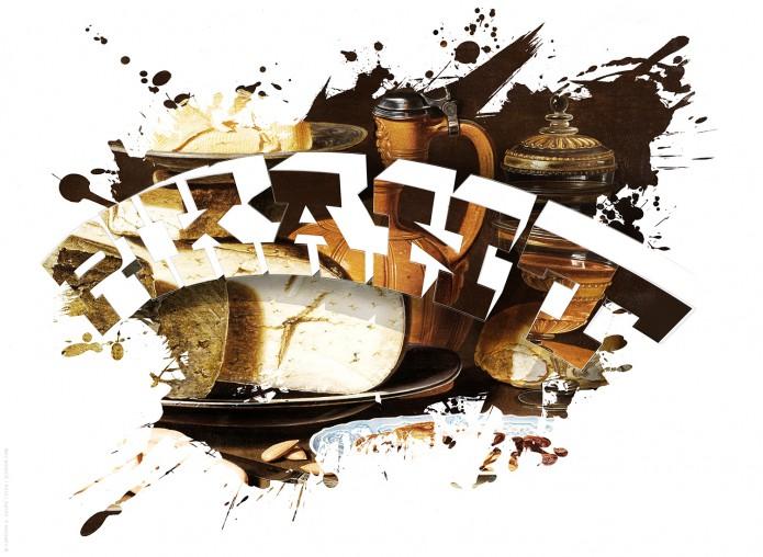 Stillleben Typo Kunstgrafiken Kunst_Grafik-Typo_Stillleben_03-pikant-©-Carsten-A-Saupe-CeSa-Quotor-Design