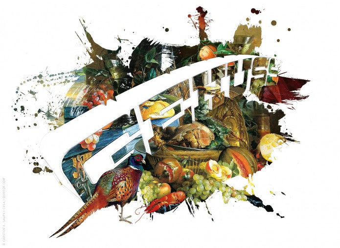 Stillleben Typo Kunstgrafiken Kunst_Grafik_genuss-©-Carsten-A-Saupe-CeSa-Quotor-Design