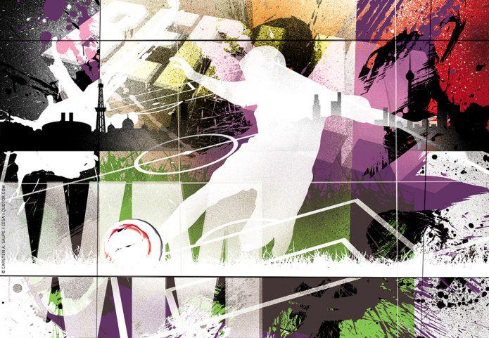 Fussball WM Kunstgrafiken von CeSa Quotor Design