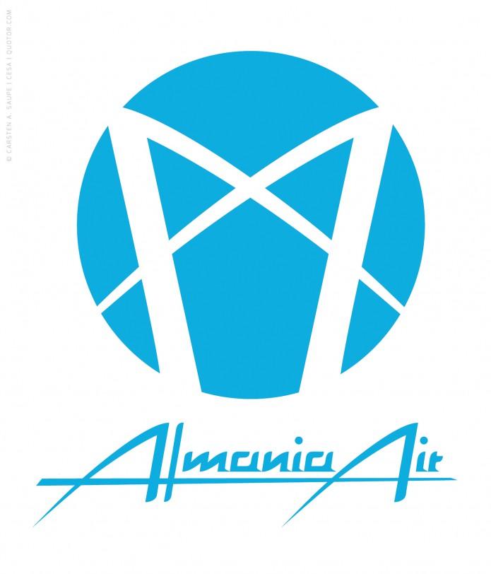 Logo Design Auswahl Logo_Almania_Air-©-Carsten_A_Saupe-CeSa-Quotor-Design